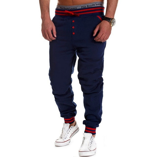 Men Casual Hip Hop Dance Cool Sweatpants Loose Trousers Elastic Waist Bottoms-geekbuyig