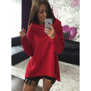 Christmas Clothes 2017 Women Winter Hoodies Scarf Collar Long Sleeve Fashion Casual Autumn Sweatshirts Rough Pullovers-geekbuyig