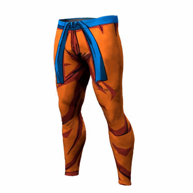 Fashion Compression Tights Dragon Ball Long Pants Fitness Leggings Men Slim Fit Joggers Workout Trousers Plus Size Underpants-geekbuyig