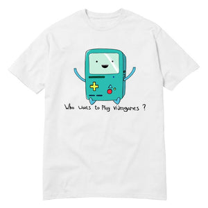 USAprint Harajuku Men T Shirt Adventure Time Play Video Games Funny t shirt cotton leisure short-sleeved euro size O neck tshirt-geekbuyig