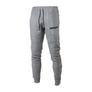 New Clothing Man Pants Casual Skinny Trousers Bodybuilding Gyms Pants Men Joggers Elastic Sweatpants Four Color XXL-geekbuyig