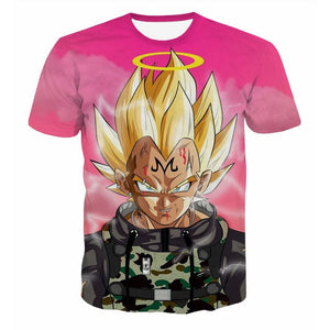 Dragon Ball Z T-shirts Men's Summer 3D Print Super Saiyan Son Goku Black Vegeta Battle Dragonball Casual T Shirt Tops Tee-geekbuyig