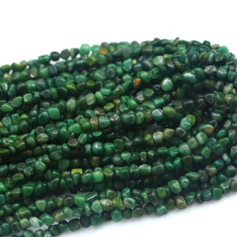 "Discount Wholesale Natural Genuine Africa Green Jade Nugget Loose Beads Free Form Beads 3-12mm Fit Jewelry 15"" 03939-geekbuyig"