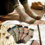 LNRRABC Winter Thick Warm Stripe Wool Socks Casual Calcetines Hombre Sock Business Male Socks-geekbuyig