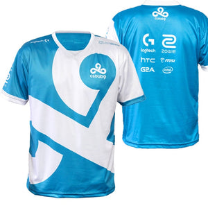 Dota2 LOL CSGO Game Team C9 CLOUD9 Jersey T Shirt CSGO GAMING t-shirt fast dry 100% Polyeste TEES V NECK-geekbuyig
