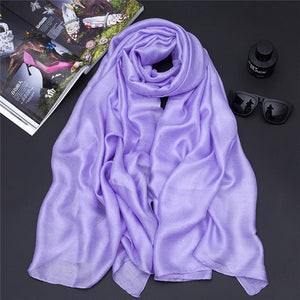 New Pearl Solid Linen Silk Scarf Shawl Autumn Winter Scarf Women Beautiful Scarves warp Echarpes Foulards Femme-geekbuyig