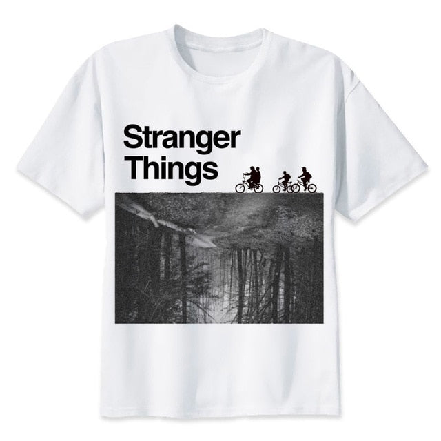 stranger things t shirt 2017 anime t-shirt men O-neck mens tee shirts high qualty men shirt summer men tshirt-geekbuyig