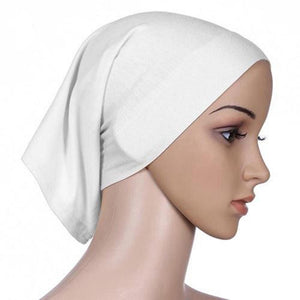 Colorful Women Under Scarf Tube Bonnet Cap Bone Islamic Head Cover Hijab-geekbuyig