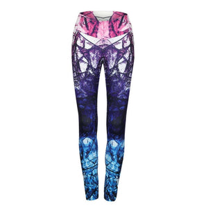 New Printed Sporting Pants Women Fitness Leggings High Waist Push Up Sexy Fitness Clothing Elastic Workout Sporting Leggings-geekbuyig