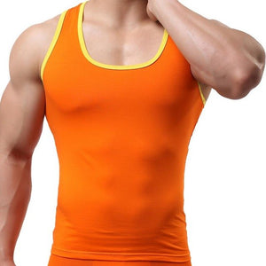 100% cotton O-neck Tank Tops men Summer Male Sleeveless Vest square collar 2017 Casual Gilet elastic Tops Muscle Summer Tees-geekbuyig
