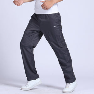 Grandwish Quick Dry Men's Exercise Pants Elastic Waist Double Layer Men Breathable Pants Quick Drying Active Pants Mens ,PA217-geekbuyig