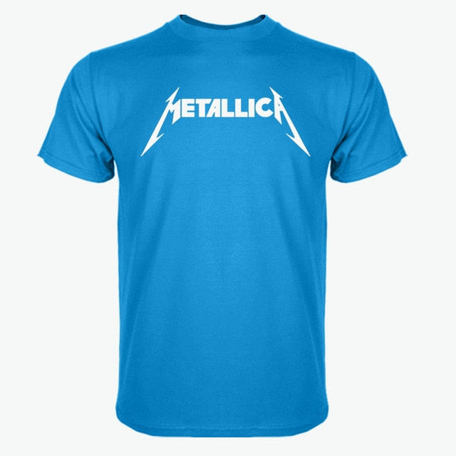 Newest Fashion Metallica Printed T-Shirt Summer trendy Mens Hip Hop Short Sleeve Tee Tops Clothing Plus Size S-XXXL-geekbuyig
