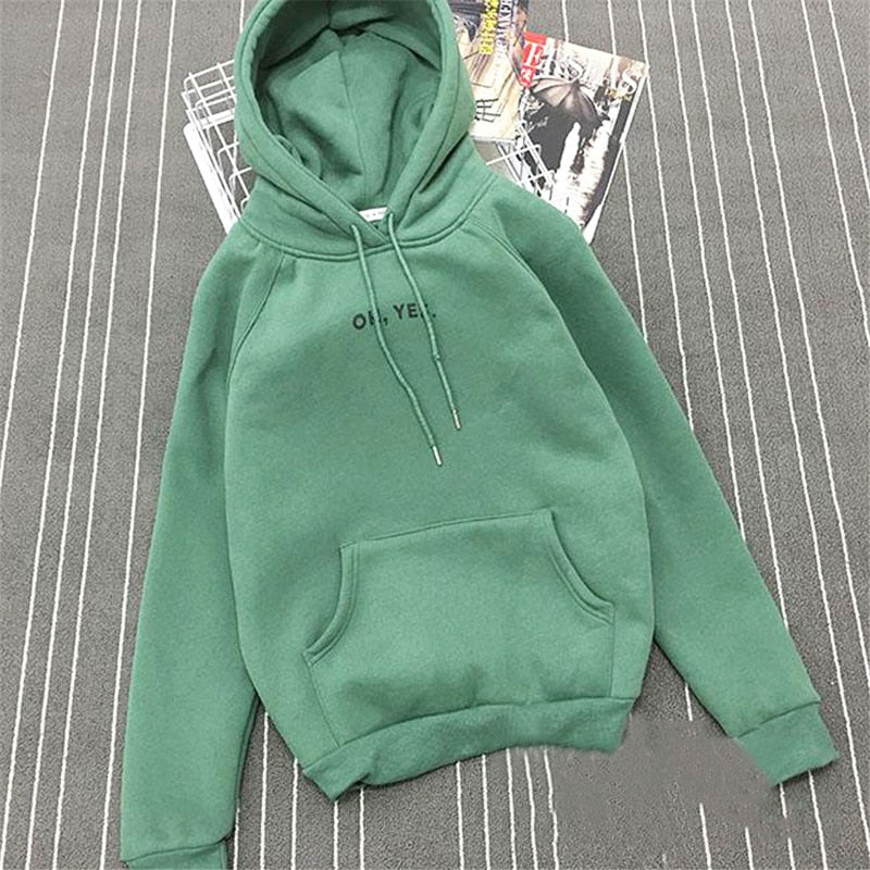 2018 Autumn Casual Ladies Hooded Six Colors Long Sleeve Sweatshirt Loose Style Clothing-geekbuyig