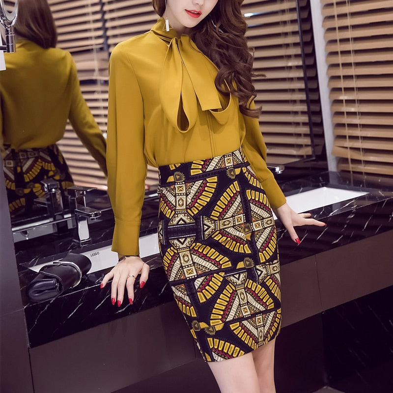 5XL Women Pencil Skirt 2017 High Waist Skirt Office Work Print Colorful Women Mini Skirt Split Formal Skirts Womens Plus Size-geekbuyig
