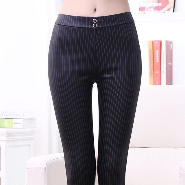 Winter New Plus Velvet Thickening Big Size Was Thin Imitation Leather Matt Elastic Leather Pencil Pants Warm Feet Pants