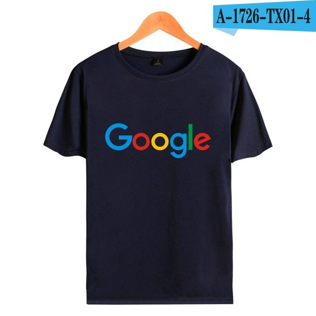 Google Casual tshirt Google Clothing Google Print T shirt O-neck Short Sleeve Tees Google Logo Short sleeve tee shirt-geekbuyig
