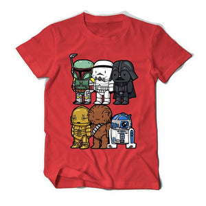 High Quality Man T Shirt Star Wars Cartoons Clothing Movie T-shirts Men Adult 100% Cotton darth vader Funny TShirts For TeenBoys-geekbuyig