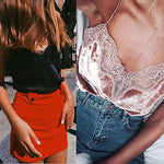 Fashion Women'S Summer Lace Top Sleeveless Velvet Tank Blouse Tops Shirt Off Shoulder V-Neck Sexy Lace New Hot-geekbuyig