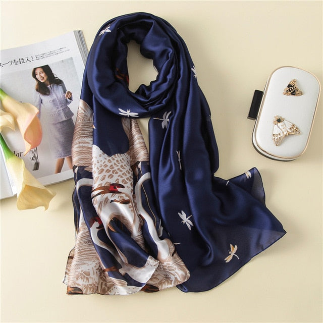 2018 luxury brand women scarf fashion lady pashmina silk scarves female shawls and wraps bandana echarpe hijab foulard stoles-geekbuyig