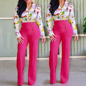 2017 New Women Casual Summer Palazzo High Waist Career Wide Leg Trousers Loose Pants New-geekbuyig