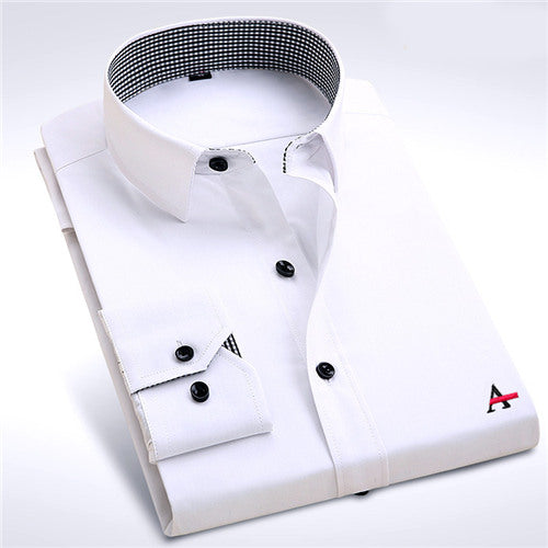 Dudalina 2017 Brand Men Shirt Male Dress Shirts Men's Fashion Casual Long Sleeve Business Formal Shirt camisa social masculina-geekbuyig