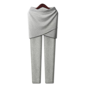 New 2018 Autumn Winter Warm Pencil Pants Plus Size XL-5XL Casual Women Thicken Cotton Skirt Pants High Elastic Comfort Insole-geekbuyig
