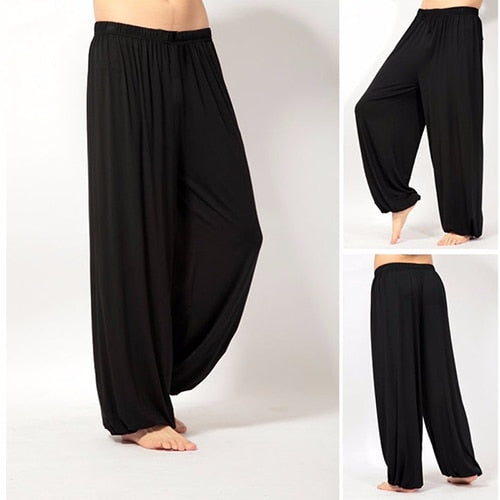 ! Unisex Casual Jogger Baggy Trouser Jumpsuit Harem Pants Bottom Slacks-geekbuyig