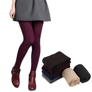 6 Colors Women Winter Plus Cashmere Leggings Female Casual Warm One Size Bamboo Carbon Fiber Thick Slim Super Elastic Warn Pants-geekbuyig