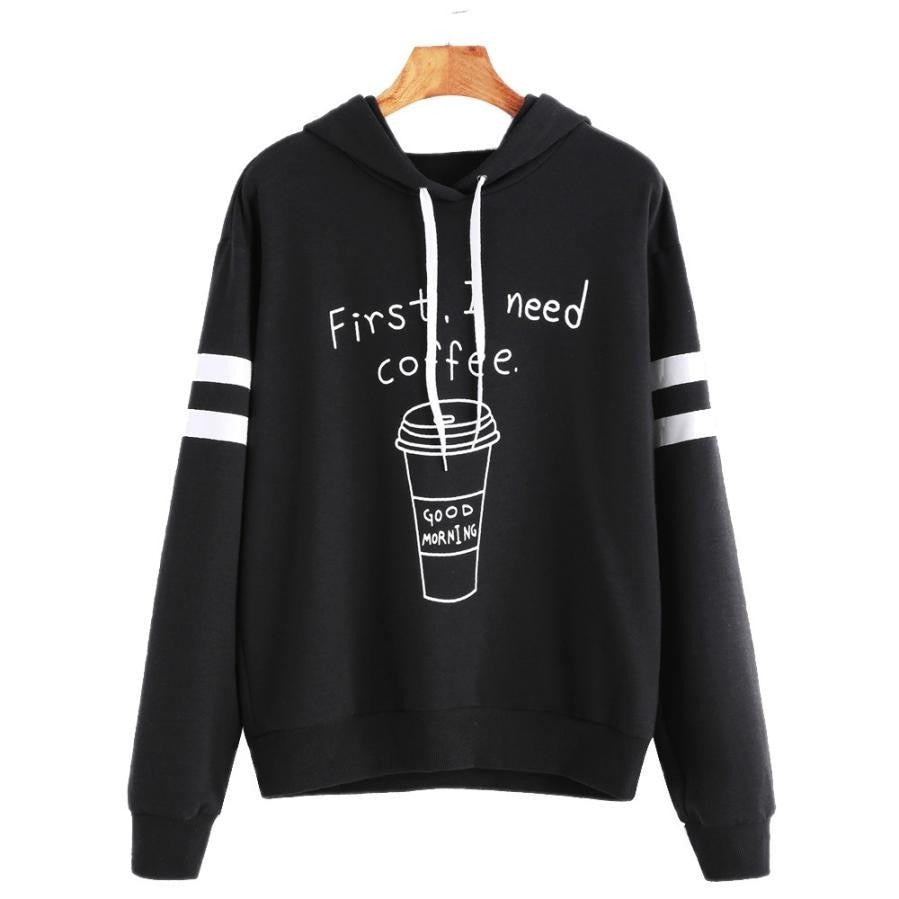 Winter Autumn New Design Long Sleeve Women Hoodies Sweatshirts Letter Print Hooded Female Jumper Women's Tracksuits Pullover Top-geekbuyig