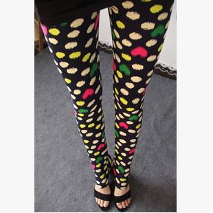 Spring 2018 Fashion Girl Legging Spandex aptitud Print Floral Leggings Leggins Milk Silk Women Pants Leaf Tetris Clothing K090-geekbuyig