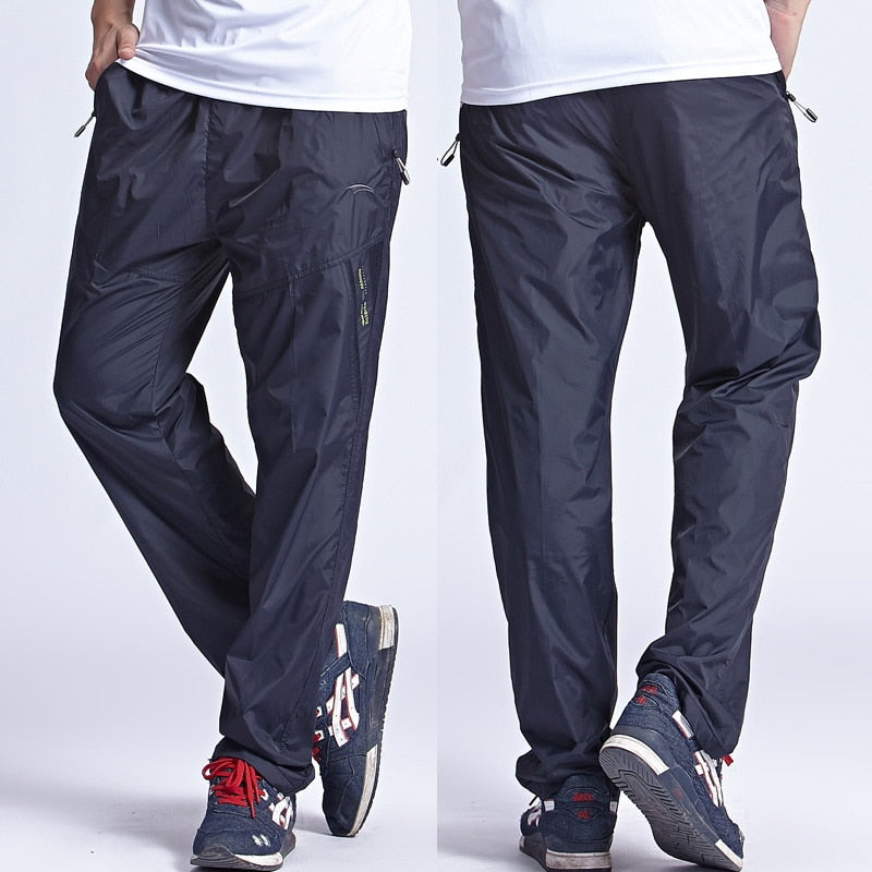 2018 New Quick Dry Men's Active Pants Outside Plus Size 6XL Long Men Pants Active Elastic Waist Men Exercise Pants ,PA214-geekbuyig
