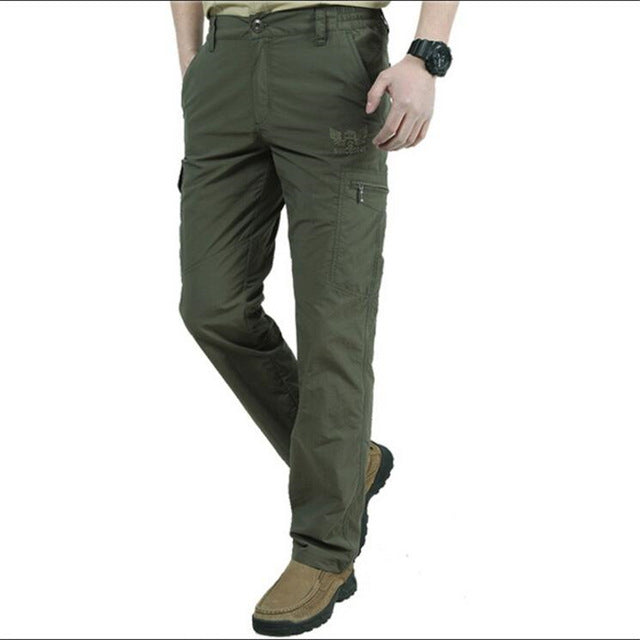 New Spring Quick Dry Cargo Pants Men Army Military Elastic Breathable Trekking Waterproof Trousers Tactical Pants Men Sweatpants