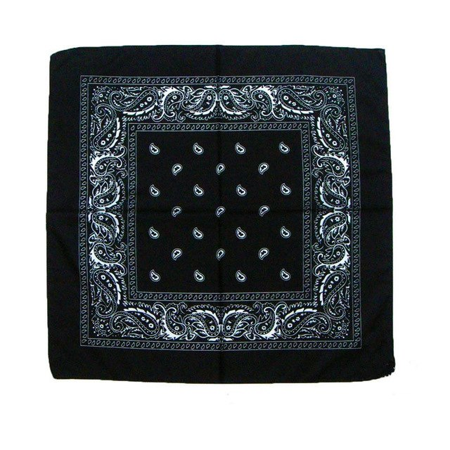 Chic Multipurpose Hip-hop Unisex Paisley Bandanas Hair bands Single Sided Head Wrap Scarf Wristscarf Accessories For Men Woman-geekbuyig