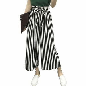 MOBTRS Hot Selling Ladies Office Pants Fashion Loose Leg Pants Woman High Waist Casual Pants For Women-geekbuyig