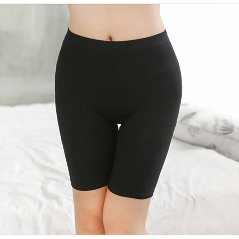 XS-XXXL 2018 sexy Ladies Knee-Length Short Leggings Under Skirts, Comfortable Lightweight Bamboo Underpants for Summer-geekbuyig