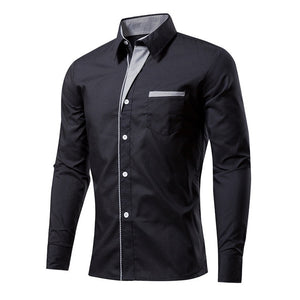 New Arrival Men Clothes Casual Shirts Long Sleeve Shirt Men Slim Fit Brand Male Shirt camisa masculina size M-4XL-geekbuyig