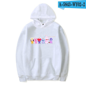 BTS K-pop Women Hoodies Sweatshirts 2018 Kpop Hip Hop Hoodie Sweatshirt Fashion Casual Sweatshirt BTS Female Fans Clothes 4XL-geekbuyig