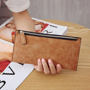 AUTEUIL PARIS Women's Purse Ladies Wallet Long Money Bags Simple Style Coin Purse Leather Thin Wallets Female Card Holder Solid-geekbuyig