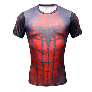 New Comic Superhero Compression Shirt Captain America Iron man Fit Tight G ym Bodybuilding T Shirt-geekbuyig