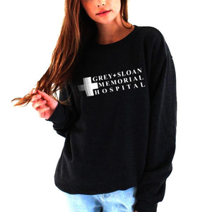 Grey'S Anatomy Sweatshirt Grey Sloan Memorial Hospital Hoodie Women Casual Long-Sleeved Pullovers Hoodies-geekbuyig