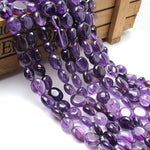 Natural Stone Beads 8-10mm Irregular Amethyst Purple Crystal Stone Beads For Jewelry Making Bracelet Necklace 15inches-geekbuyig