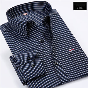 Dudalina Work Dress 2017 Fashion Men's Shirts Brand Clothing Long Sleeve Vertical Stripes Business Spring Autumn Casual Shirt-geekbuyig