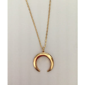 New fashion jewelry Crescent horns moon pendant necklace gift for women girl-geekbuyig