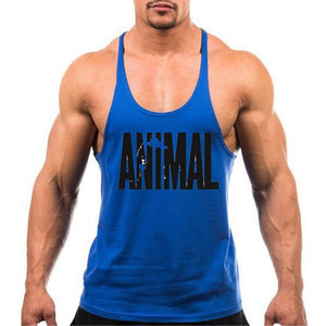 Animal Gyms Stringers Mens Tank Tops Sleeveless Shirt,tanktops Bodybuilding and Fitness Men's Gyms Singlets workout Clothes-geekbuyig