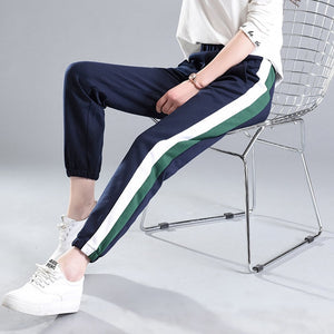 Spring Winter Sweatpants Women Casual Harem Pants Loose Trousers For Women Black Striped Side Sweat Pants Female Plus Size-geekbuyig