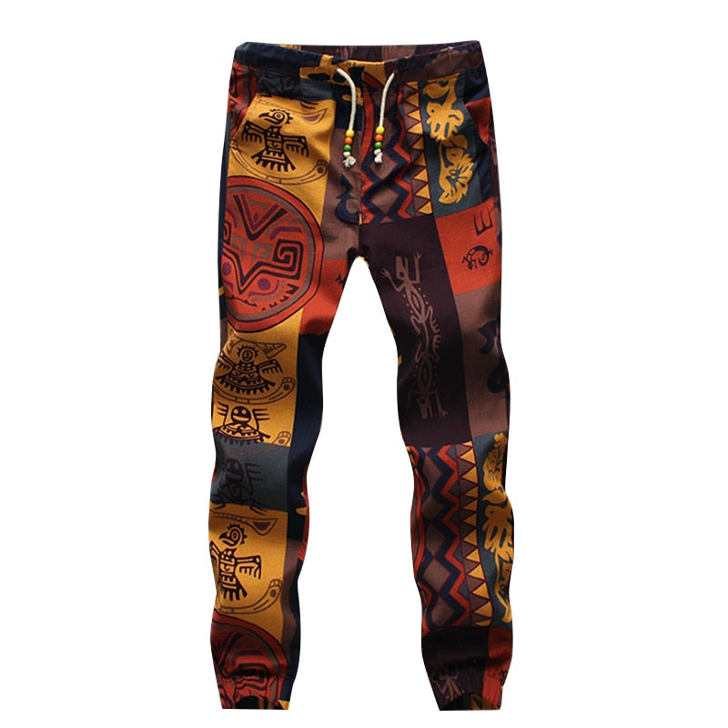 2016 New Arrival Novelty Cotton Drawstring Skinny Gecko Floral Pattern Print Narrow Feet Jogger Pants-geekbuyig