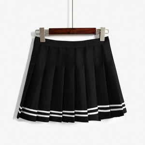 2018 Women'S Kawaii Vintage AA High Waist Pleated Skirt Female Japanese Harajuku British Preppy Style Cute Skirts For Women-geekbuyig