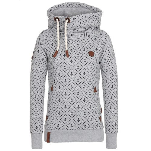 harajuku Hot style printed hooded sweatshirt European and American hooded jacket fleece fleece hoodies women sweatshirt-geekbuyig