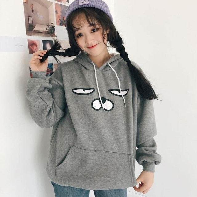 Autumn and winter students cute cartoon Hoodies, Sweatshirts-geekbuyig