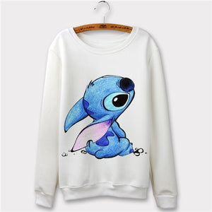 Sudaderas Mujer 2018 Casual Stitch Cartoon 3d Print Tracksuit women hoodies pullovers LJ O-neck sweatshirt moleton feminino-geekbuyig